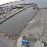 aerial photo of Essroc Quay under construction
